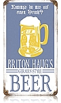 Haug's German Beer Vintage Metal Sign