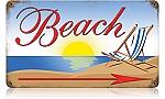 Beach Vintage Metal Sign