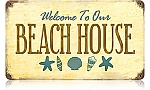 Beach House Vintage Metal Sign