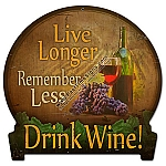 Drink Wine Metal Sign