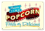Fresh Popcorn Vintage Metal Sign
