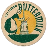 Cultured Buttermilk Vintage Metal Sign