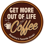Get More Coffee Vintage Metal Sign