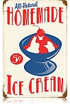 Homemade Ice Cream Vintage Metal Sign