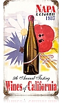 Wines of California Vintage Metal Sign
