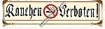 Rauchen Verboten (No Smoking) Vintage Metal Sign