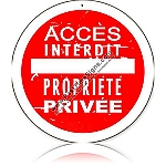 Access Interdit (Access Forbidden) Vintage Metal Sign