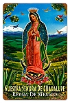 Our Lady of Guadalupe Vintage Metal Sign