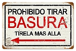 Prohibido Basura (No Littering) Vintage Metal Sign