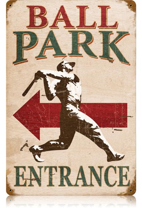 Ball Park Vintage Metal Sign
