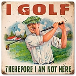 I Golf Vintage Metal Sign