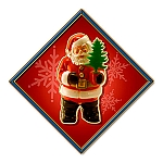 Santa Tree Metal Sign