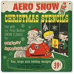Christmas Stencils Vintage Metal Sign