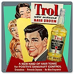 Trol Hair Groom Vintage Metal Sign