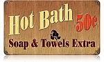Hot Bath Vintage Metal Sign