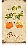 Orange Vintage Metal Sign