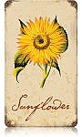 Sunflower Vintage Metal Sign