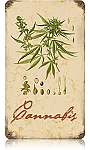 Cannabis Vintage Metal Sign