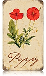 Poppy Vintage Metal Sign