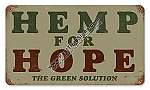 Hemp For Home Vintage Metal Sign