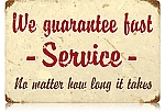 Fast Service Vintage Metal Sign