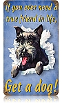 Get A Dog Vintage Metal Sign