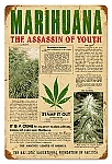 Marijuana Assassin Vintage Metal Sign