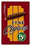 Fine Cigars Vintage Metal Sign