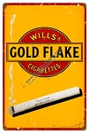 Gold Flake Cigarettes Metal Sign