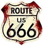 Route 666 Vintage Metal Sign