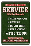 Friendly Service Vintage Metal Sign
