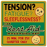 Rest Aid Massage Bed Vintage Metal Sign