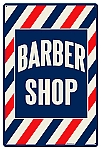 Barber Shop Vintage Metal Sign