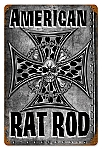 American Rat Rod Vintage Metal Sign