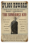 Sundance Kid Wanted Poster Metal Sign