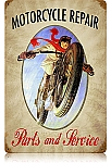 Motorcycle Repair Vintage Metal Sign