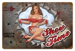 Show Time Vintage Metal Sign