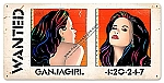 Wanted Ganja Girl Vintage Metal Sign