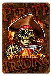 Pirate Trading Vintage Metal Sign