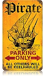 Pirate Parking Vintage Metal Sign