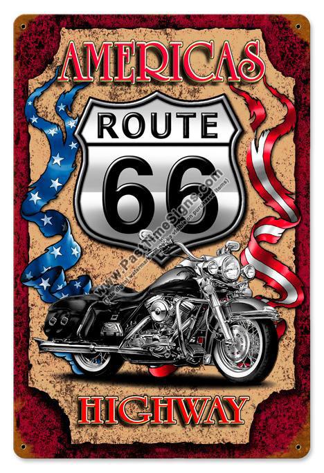 Route 66 Americas Highway Vintage Metal Sign