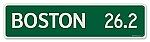 Boston Marathon Mile Metal Street Sign