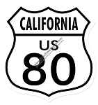 Route 80 California Vintage Metal Sign