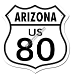 Route 80 Arizona Vintage Metal Sign