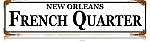 French Quarter Vintage Metal Sign