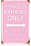 Princess Parking Vintage Metal Sign