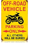 Off Road Vehicle Parking Vintage Metal Sign