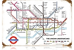 London Underground Vintage Metal Sign