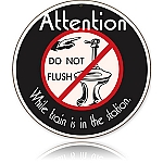 No Flushing Vintage Metal Sign