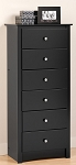 Black 6-drawer Lingerie Chest By Prepac